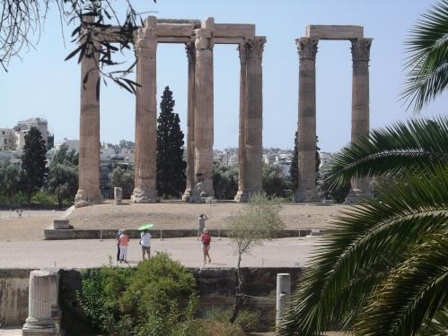 Templul lui Zeus Olimpianul, cel mai mare templu antic din Atena, situl Olympion