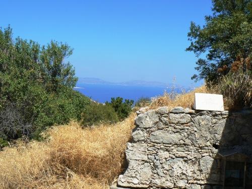 """Marea, văzută din dreptul bisericii """"Agia Varvara"""", Paleochora, insula Egina"""