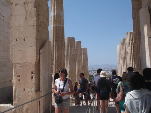 Clădirea centrală a Propileelor (vedere dinspre est), Acropole, Atena